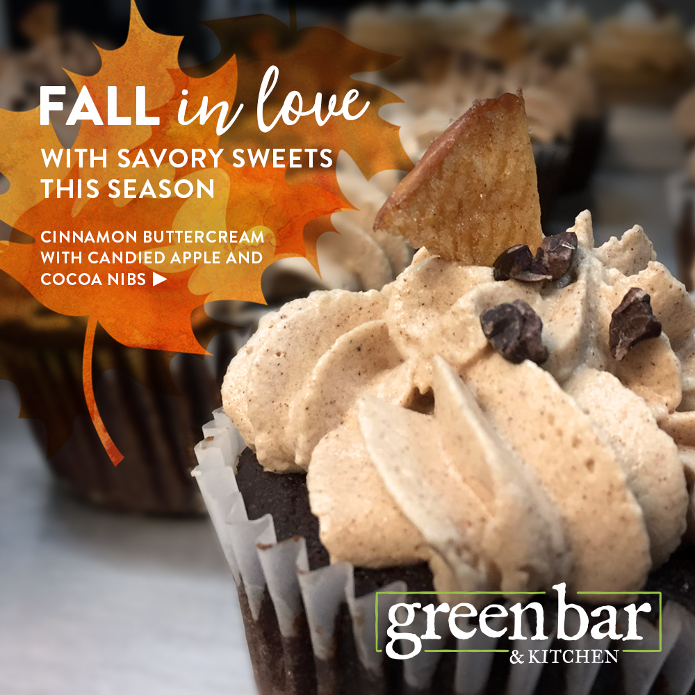 green bar & kitchen, vegan, cupcakes